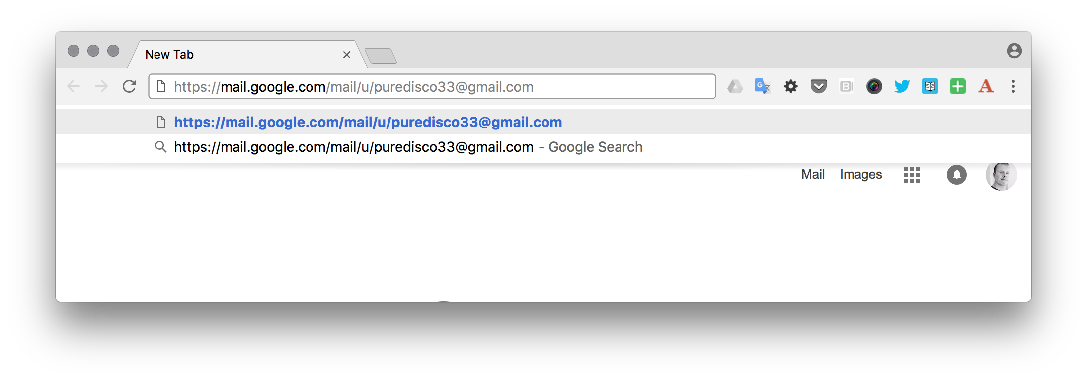 Switching to a different Gmail account