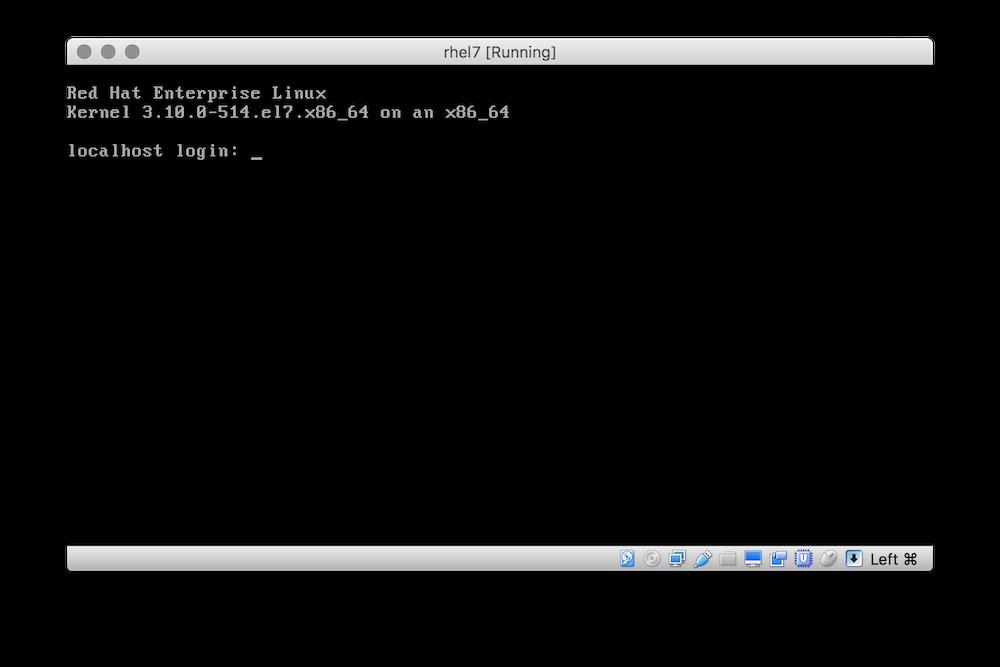 Red Hat Enterprise Linux terminal